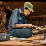 Visit the workshops of master artists such as Master woodcarver, Pak Apel