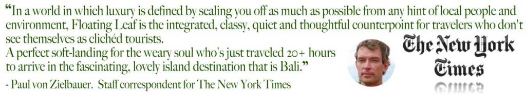 New York Times Best of Bali