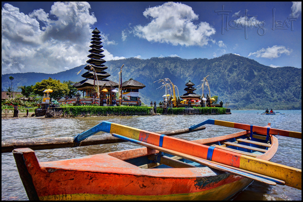 Ulun Danu Temple seems to float on the volcanic lake.