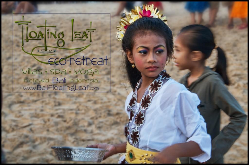 Bali retreat Beach ceremony girl