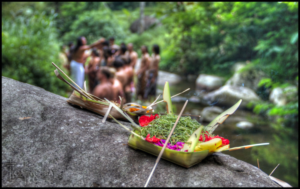 Bali healer ceremony offering