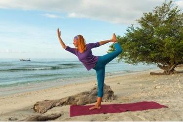 Bali beach yoga