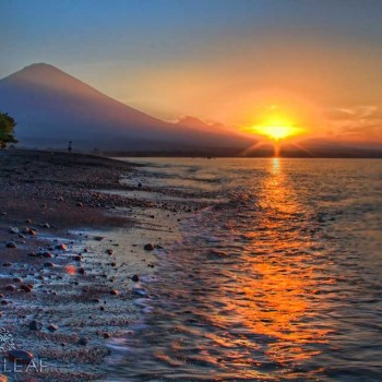 SACRED MT AGUNG AND THE INDIAN OCEAN