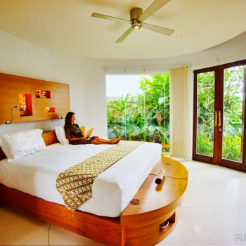Spacious luxury guest rooms