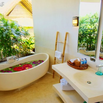 Luxurious garden bathrooms