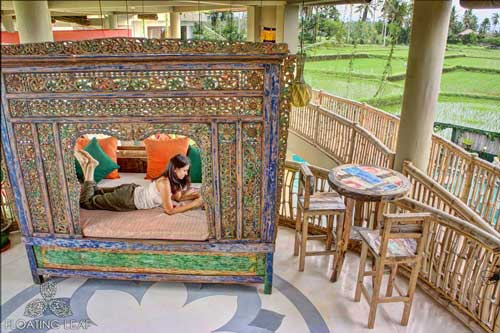 relax in the antique daybed