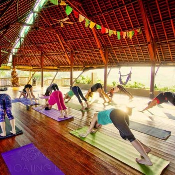 Yoga classes at Floating Leaf Eco-Luxury Retreat