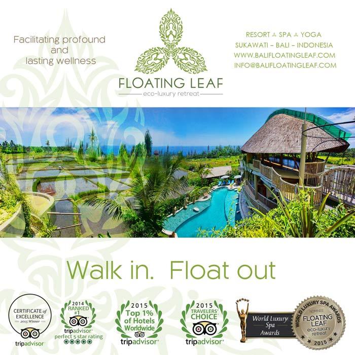 The award winning Bali Floating Leaf Eco-Luxury Retreat