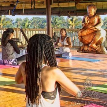 Buddha and yoga class