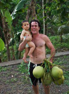 Mikaku and Bodhi love coconuts