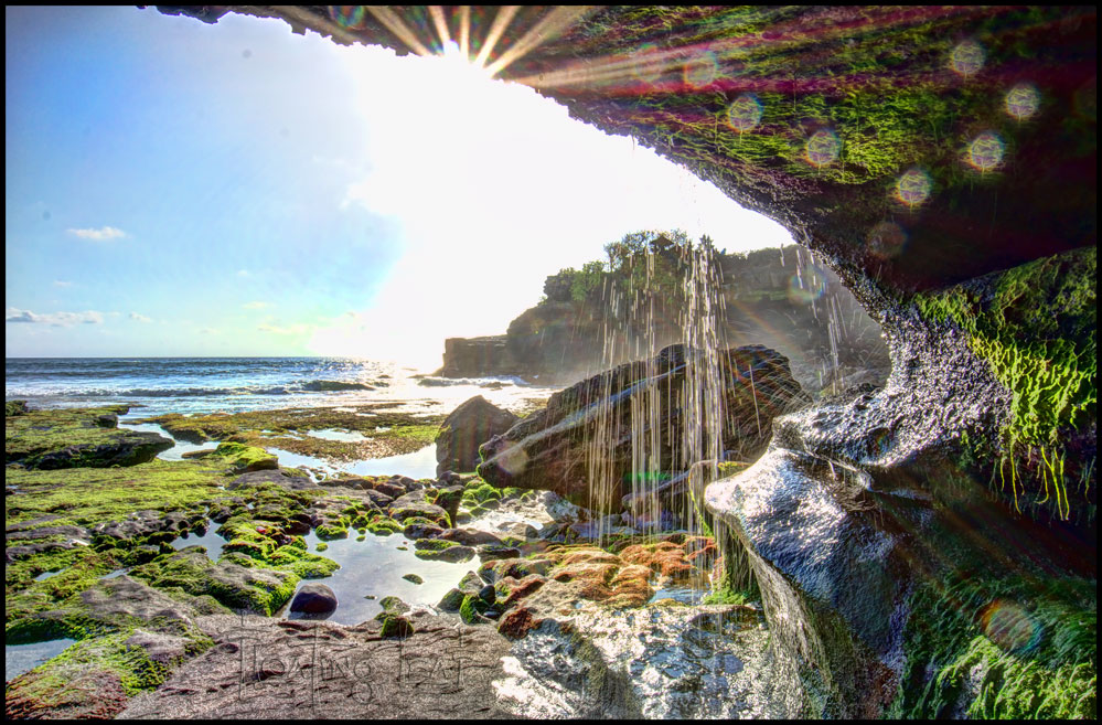 Bali Photo Of The Day Temple Waterfall Cave Bali
